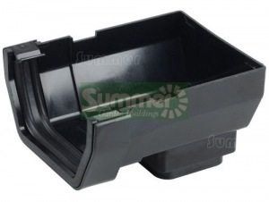 PVC gutters and downpipes