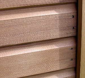 Close up view of cladding