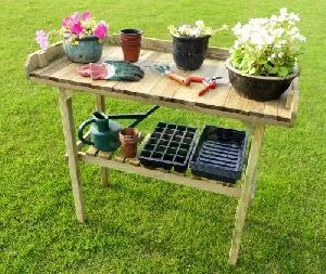 Wooden potting tables