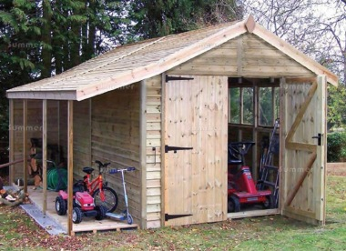 Malvern Stanford Shed - Feather Board with Logstore