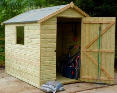 Malvern Bewdley Apex Shed - Pressure Treated, All T and G