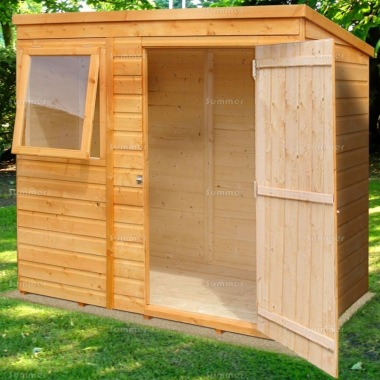 Shire Pent Shed - Shiplap, T and G Floor