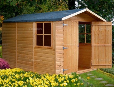 Shire Guernsey Apex Shed - Double Door