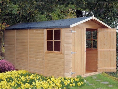 Shire Jersey Apex Shed - Double Door