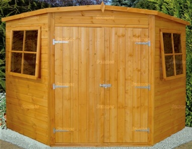 Shire Corner Shed - Double Door