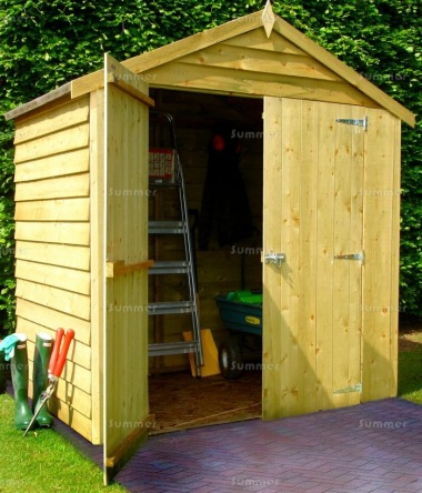 Shire Pressure Treated Overlap Shed - Double Door
