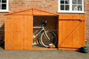 Shire Apex Bike Store Shed - Shiplap, Double Door