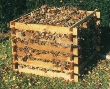 Wooden Slatted Composter 452 - Pressure Treated, Interlocking Logs