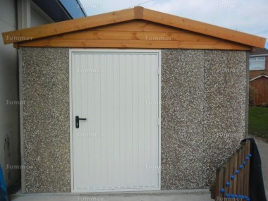 Spar Apex Concrete Shed 671 - Powder Coated Steel Door
