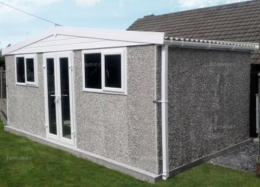Spar Apex Concrete Shed 777 - PVCu Windows, Fascias and Doors