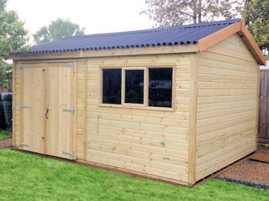 Pressure Treated Apex Shed 632 - Thicker Boards, Corrugated Roof