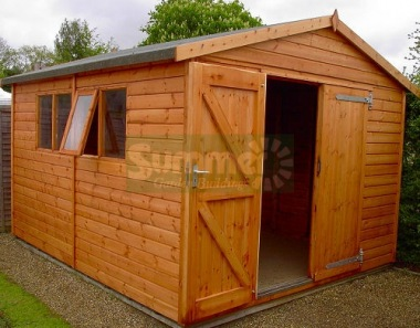 Shiplap Apex Shed 14 - Extra Tall Workshop, Thicker Boards