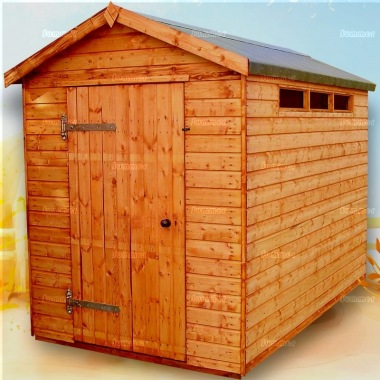 Security Apex Shed 157 - Shiplap, Thicker Timber