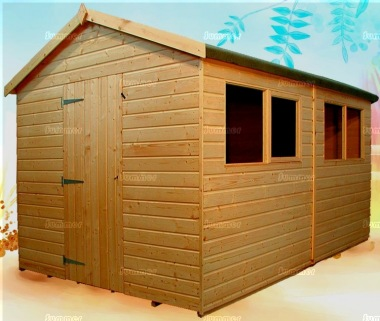 Shiplap Apex Shed 158 - Workshop, Thicker Boards