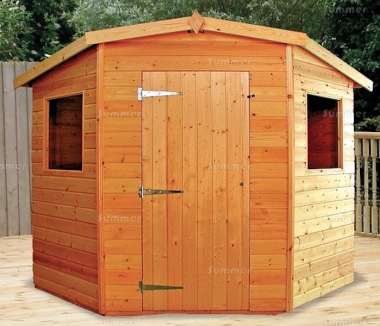 Shiplap Corner Shed 164 - Thicker Boards