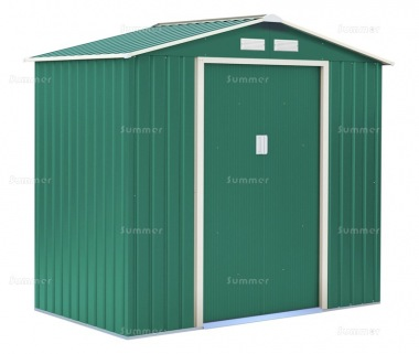 Metal Shed 371 - Apex Roof, Double Door, Galvanized Steel