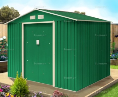 Apex Metal Shed 375 - Double Door, Galvanized Steel
