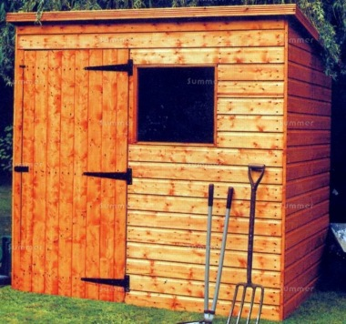 Malvern Bewdley Pent Shed - All T and G