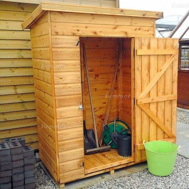 Malvern Tidystore Pent Shed - All T and G
