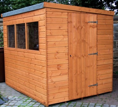 Shiplap Pent Shed 553 - T and G Floor and Roof
