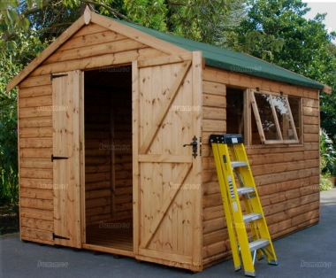 Shiplap Double Door Apex Shed 570 - All T and G