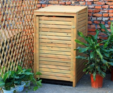 Wheelie Bin Store 152 - Wooden Slatted