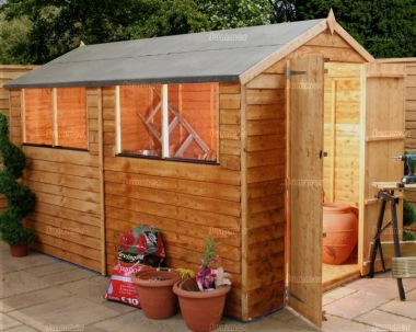 Overlap Double Door Apex Shed 270