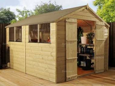 Pressure Treated Apex Shed 302 - Double Door