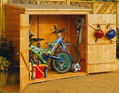 Rowlinson Wallstore Shed - Pent Roof, Double Door