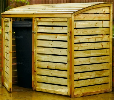 Rowlinson Double And Triple Wheelie Bin Store - Pressure Treated