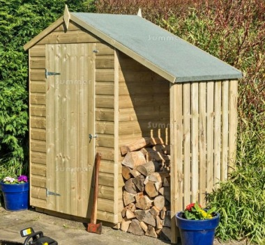 Rowlinson Oxford Shed With Lean To - Pressure Treated