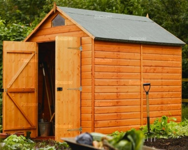 Rowlinson Double Door Security Shed - Apex Roof