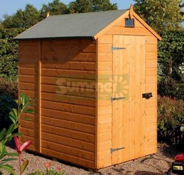 Rowlinson Single Door Security Shed - Apex Roof