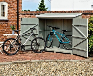 Rowlinson Heritage Wallstore Shed - Grey Wash Paint Finish