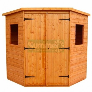 Shiplap Double Door Corner Shed 177 - All T and G